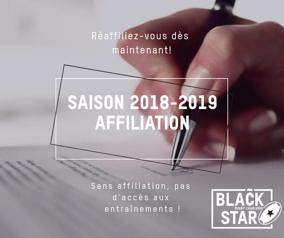 Les affiliations, c'est maintenant !